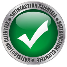 Logo satisfaction clientele